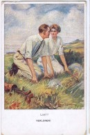 AK PAARE COUPLE COOPIE SIGNIERT KARTE CLARENCE UNDERWOOD   KÜNSTLERKARTE M.M.VIENNE M.MUNK Nr.860 C.ALTE POSTKARTE 1916 - Couples