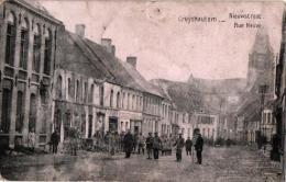 Kruishautem 3 CP  Nieuwstr   Panorama 1906       Gemeentehuis - Kruishoutem