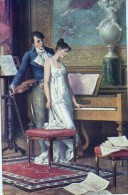 AK PAARE COUPLE COOPIE SIGNIERT KARTE: SCHWENINGER:ALTE HISTORIE., KÜNSTLERKARTE ,.ALTE POSTKARTE 1915 - Couples