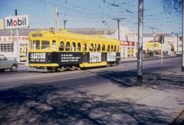 Railway Tram Color Slide Strassenbahn Australia, Melbourne 1970 - Treni