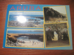 Antilles. Aruba. Sea Shore And Beach Multi-view.. Postally Used. - Aruba