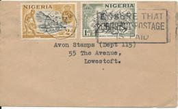 Nigeria Cover Sent To England 28-5-1956 - Nigeria (...-1960)