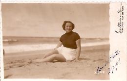 "PORTRAIT PIN UP FEMME-MUJER-DONNA-WOMEN BAGNE MAR DEL PLATA ""CASA FOTO SALINAS"" ANNEE 1939 CIRCULEE GECKO - Pin-Ups"