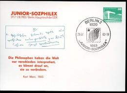 KARL-MARX-ZITAT DDR PP18 D2/002 Privat-Postkarte Berlin Sost.1983 - Karl Marx