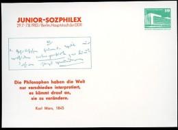 KARL-MARX-ZITAT DDR PP18 D2/002 Privat-Postkarte Berlin 1983 - Karl Marx