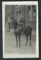 Camp D'Elsenborn. Soldat à Cheval. Phot-carte. Recto/verso. - Elsenborn (camp)