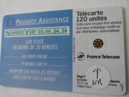 RARE :  DÉCALAGE NUMÉROTATION SUR PEUGEOT ASSISTANCE 120  NR 46506 USED CARD - Frankrijk