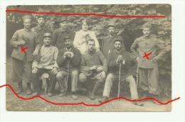 Carte Photo SENONCHES Hopital Miltaire Mai 1915 D´ Alphonse Et Adolphe MILLIET Lire Correspondance - Frankreich