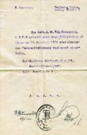 Einladung 1924 - Mitteilung