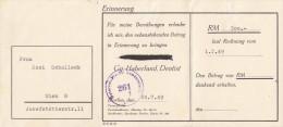 Erinnerungsrechnung 1949 Mit Zensurstempel - Autriche