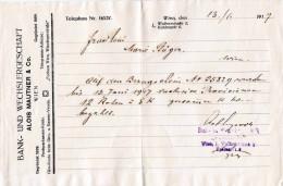 Bezugsschein 1917 - Mitteilung