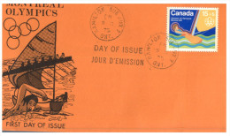 (PH 700) Canada FDC Cover - 1975 - Olympic Sailing + Football (3 Covers) - Zomer 1976: Montreal