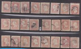 + UNITED STATES 1961 /71; Mi: 18 II; USED; Mix Quality (see Picture); President George Washington - 1847-99 Emissions Générales