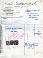 FONDERIA E SMALTERIA CARLO GALIMBERTI -STABILIMENTO IN BOLLATE-MILANO-27-8-1934 - Italia