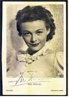 Autogramm Ilse Werner Handsigniert  - Portrait Ilse Werner  -   Schauspieler Foto Nr. A 3019/2 Von Ca.1940 - Autographs