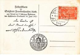 GERMANY   KYFTHAUSER FLUG   1921 - Airmail