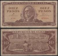 Cuba Kuba P 96 a - 10 Pesos 1961 Che Guevara - VF