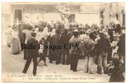 20 - CALVI - Manifestation - �lection du Conseil G�n�ral Fabiani +++ �dit. Dolovici ++ vers NEW YORK, USA, 1908 +++ RARE