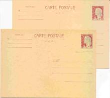 2 Entiers Marianne De Decaris - Cartoline Postali E Su Commissione Privata TSC (ante 1995)
