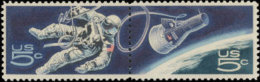 1967 USA Space Achievement Stamps Sc#1331-2 #1332b Earth Astronaut - Space