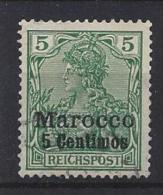 Germany (Morocco) 1900  (o) Mi.8 I - Offices: Morocco