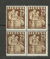 LITAUEN Lithuania 1940 In 4-Block MNH - Lithuania