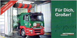 Werbekarte Knettenbrech Gurdulic / LKW-Waschanlage (mit MAN LKW) - Transporter & LKW