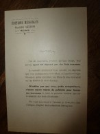 1940 ?  AVIS   Original  : Editions Musicales ROGER LEGER à Reims  (petit Compositeur) - Music & Instruments