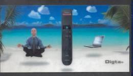 Carte Hologramme Impression De Relief - Publicité GRUNDIG - Television