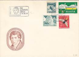 RIVER, BUSS, TOURISM, FLY, STAMPS, CHARLES PICTET DE ROCHEMONT EMBOISED SPECIAL COVER, 1956, SWITZERLAND - Switzerland