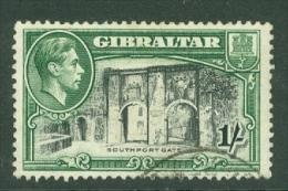 Gibraltar: 1938/51   KGVI     SG127b    1/-   [Perf: 13]  Used - Gibilterra