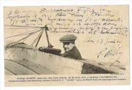 CPA AVIATION GILBERT DANS SON RAID PARIS VITTORIA EN 1913 A EMPLOYE L´ESSENCE AUTOMOBILINE - Aviateurs