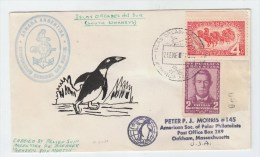 Argentina ISLAS ORCADAS DEL SUR ANTARCTIC COVER PENGUIN - Stamps