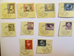 Lot III Reich Oblétérations Spéciales 1941-43 Mi 811 812 818 819 820 821 822 828 830 - Gebraucht