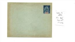 EP Entier Postal Enveloppe Indochine  15c Bleu Sur Bleu Vert 1892 Type Groupe Allégorique ACEP ENV3 - Briefe U. Dokumente