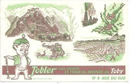 PUBLICITE - CHOCOLAT TOBLER - Le Tour De Monde De Toby - N° 8 - Asie Du Sud - Werbepostkarten