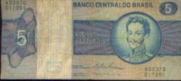 BRESIL - 5 Cruzeiros - D. PEDRO I - Brésil