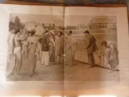1913  Dessin De Louis Sabattier ; ATHETISME Dans La Vie Moderne  ( En Visite Au Stade De Reims) - Vieux Papiers