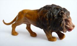 Figurine STARLUX  - ANIMAUX ANIMAL - LION ZOO Pas Clairet Elastolin Ougen Jim Cyrnos - Starlux