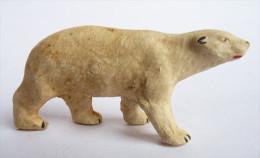 Figurine STARLUX  - ANIMAUX ANIMAL - OURS BLANC ZOO Pas Clairet Elastolin Ougen Jim Cyrnos - Starlux