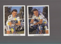 Cyclisme - équipe Gan 96 - Lot De 5 CP - Gaumont/ Pretot/ Ledanois/lemarchand/desbiens - Cycling