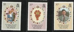 Cayman Islands 1981Royal Wedding MNH - Kaimaninseln