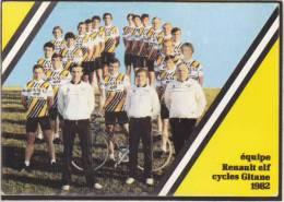 Cyclisme - équipe Renault Elf Cycles Gitane 1982 - Liste Des 19 Coureurs Au Verso - Cycling