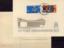 Souvenir Messe Frühjahr 1975 DDR 2023/4 Auf Gedenkblatt SST 5€ Kamera SKET Zementwerk Leipzig Fair Card Of Germany - Marchés