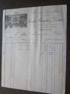 PERPIGNAN 24 Jan 1886 Facture à En-tête Commerciale Illustration-Mercerie Bonneterie Cazals-Blanque D. Articles De Paris - France