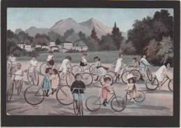 Cyclisme - Fantaisie - Enfants Multiples à Bicyclette - Printed Germany - Voir Etat - Cycling