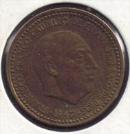 ESPANA 1 PESETA 1947 (51) FRANCO - [ 4] 1939-1947 : Governo Nazionale