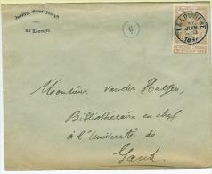 LA LOUVIERE 17 JUIN 1887 T.p. Nr 72 Expo Bruxelles 1897 Vers Gand - 1894-1896 Esposizioni