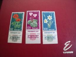 (L 16 ) Timbre ISRAEL  Y.T  1959 N° 152 / 54 ** - Neufs (avec Tabs)