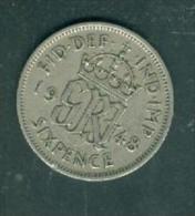 Great Britain Six Pence 1948  - Pia8911 - 1902-1971: Postviktorianische Münzen